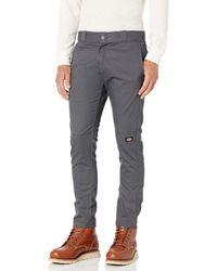 Dickies Skinny-straight Double Knee Work Pant - Gray