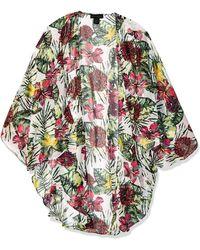Steve Madden Seriously Tropic Lux Kimono - White