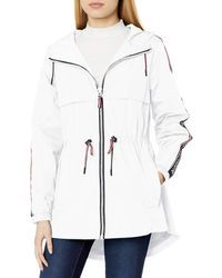 Tommy Hilfiger Anorak Jacket With Logo Sleeve Taping - White