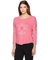 Nautica - Graphic Knit Jersey Lounge Top - Lyst