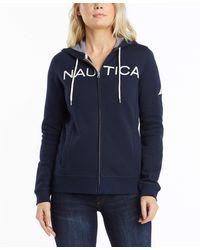 Nautica Go-to Signature Cotton Full-zip Logo Hoodie - Blue