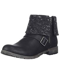 Rocket Dog Bentley Lewis Pu Finland Fabric Ankle Boot - Black