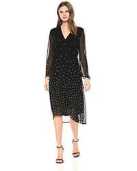 Anne Klein - Long Sleeve Drawstring Midi Dress - Lyst
