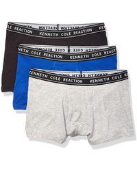 Kenneth Cole Reaction Cotton Stretch Trunk Underwear - Blue