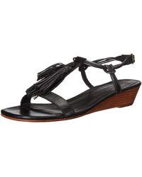 Bernardo Court Wedge Sandal - Black