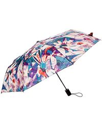 Nicole Miller Automatic Super Mini Umbrella-850nm-trop - Blue