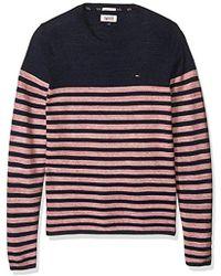 Tommy Hilfiger - Tommy Jeans Hilfiger Denim Cotton Stripe Long Sleeve Sweater - Lyst