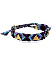 Rebecca Minkoff - S Triangle Stud Friendship Bracelet - Lyst