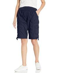 "Calvin Klein Jersey Rollover Waistband Cargo Bermuda Short 12"" Inseam - Blue"