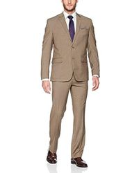 "Geoffrey Beene 32"" Finished Bottom Suit - Brown"