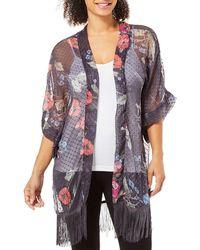 Steve Madden Swiss Dot Kimono - Multicolor