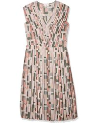 Dear Drew by Drew Barrymore The Impressionist Pleater V-neck Midi Dress - Multicolor