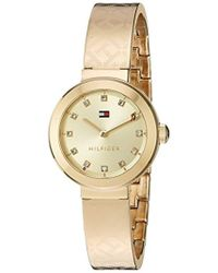 Tommy Hilfiger - Quartz Tone And Gold Casual Watch(model: 1781720) - Lyst