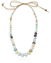 "Chan Luu - Self Tie Stone Strand Necklace, 58"" - Lyst"