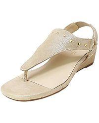 Bettye Muller Kent Wedge Sandal - Natural