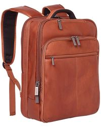 """Kenneth Cole Reaction Back-stage Access Slim Colombian Leather Tsa Checkpoint-friendly 16"""" Laptop & Tablet Travel Business Backpack - Multicolor"""