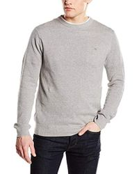 GANT - Cotton Pique Crewneck Sweater - Lyst