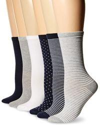 Amazon Essentials 6-pack Lightweight Casual Crew Sock - Blue