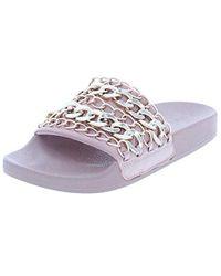 faebd5355ae Lyst - Steve Madden Women s Chains Slide Sandal in Brown