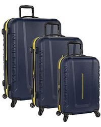 8b1af2d1b Lee Jeans 4 Piece Suitcase And Under Seat Luggage Set in Gray - Lyst