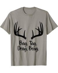 HUNTER Deer Hunting Gun Bow Whitetail Mule Stand T Shirt - Red