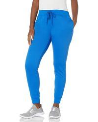 Hanes Sport Performance Fleece Jogger Pants With Pockets - Blue
