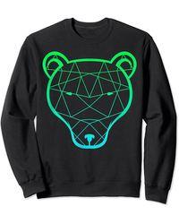 Perry Ellis Bear Grizzly Sweatshirt - Black
