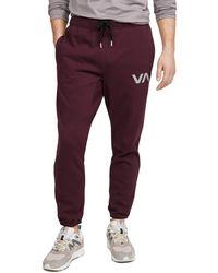 RVCA Sport Swift Sweatpant Pink Medium - Purple