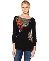 Desigual - Aneta Woman Flat Knitted Thin Gauge Pullover - Lyst
