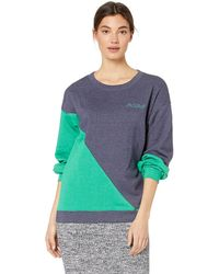 BCBGMAXAZRIA Asymmetric Colorblocked Sweatshirt - Blue