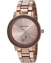 Anne Klein - Swarovski Crystal Accented Rose Gold-tone Bracelet Watch - Lyst