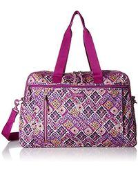 Vera Bradley Lighten Up Weekender Travel Bag - Purple