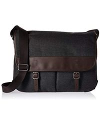 Fossil - Buckner Leather Messenger Bag - Lyst