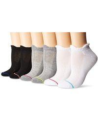 Yummie - Half Cushion Tabby No Show Athletic Sock (6 Pack), - Lyst
