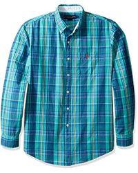 Juniors Long Sleeve Herringbone Shirt U.S Polo Assn