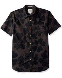 Lucky Brand Woven Ballona Shirt - Black