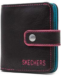 Skechers Rfid Blocking Mini Bifold Travel Accessory-bi-fold Wallet - Black