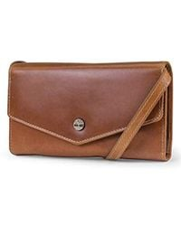 Timberland Rfid Leather Wallet Phone Bag With Detachable Crossbody Strap Cross Body - Brown