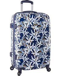 Tommy Bahama Carry On Hardside Luggage Spinner Suitcase - Blue