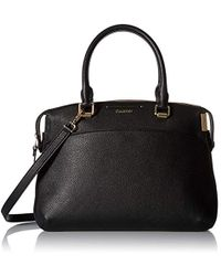 245fc4d7969 Calvin Klein Faye Pebble Leather Messenger in Black - Lyst