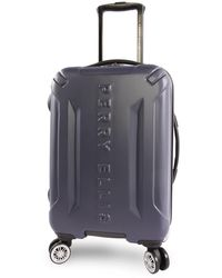 Perry Ellis Delancey Ii Hardside Carry-on Spinner Luggage - Blue