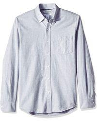 Amazon Essentials – Camisa Oxford de manga larga de corte entallado para hombre - Gris