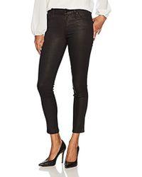 James Jeans J Twiggy Ankle Length Glossed Legging In Black Shimmer