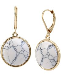 Kenneth Cole Cabochon Drop Earrings - White