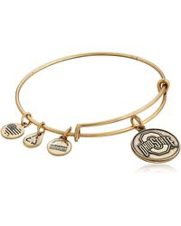 ALEX AND ANI Ohio State College Logo Expandable Rafaelian Gold Bangle Bracelet - Metallic