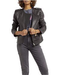 Rebecca Minkoff Katrina Leather Moto Jacket - Black