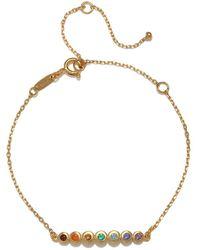 Satya Jewelry Multi Gemstone Gold Chakra Bracelet - Metallic