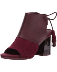Kenneth Cole Reaction Reach The Stars Peep Toe Flared Heel Lacing Tassel Detail-suede Ankle Bootie - Multicolor