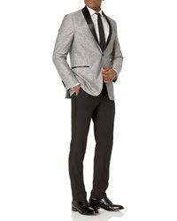 Kenneth Cole Reaction Techni-cole Slim Fit Stretch Tuxedo - Gray