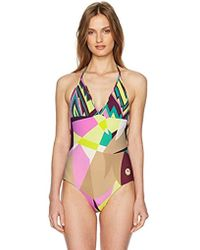 M Missoni - Abstract Print One Piece Swimsuit - Lyst